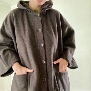 EILEEN FISHER woman italian wool hooded cloak